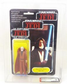 Star Wars Vintage Return of the Jedi Palitoy Tri-Logo Ben Obi-Wan Kenobi AFA 80